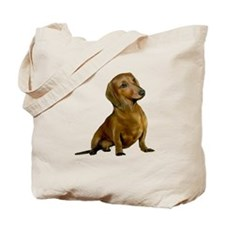 Brown / Red Dachshund Tote Bag