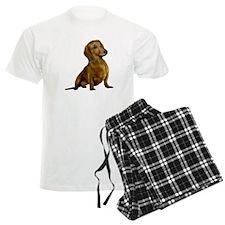 Brown / Red Dachshund Pajamas