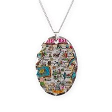 wisconsin map Necklace
