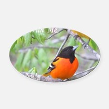 Northern Oriole Oval Car Magnet