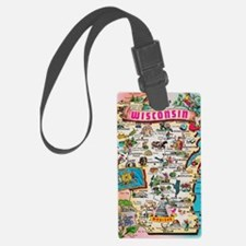 wisconsin map Luggage Tag