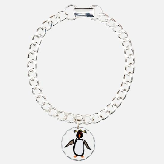 Funky Rockhopper Penguin Charm Bracelet, One Charm