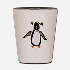 Funky Rockhopper Penguin Shot Glass