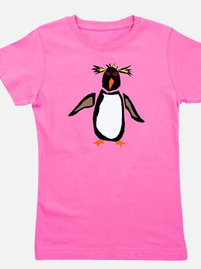 Funky Rockhopper Penguin Girl's Tee