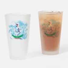 Customize Christmas Lady Runner Drinking Glass