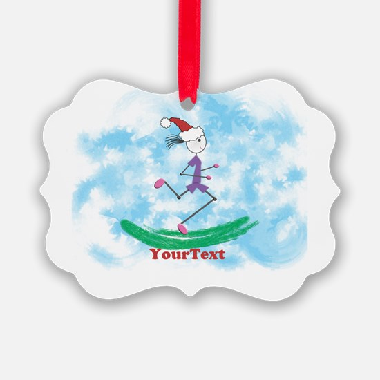 Customize Christmas Lady Runner Ornament