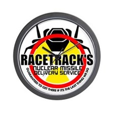 Racetrack's Delivery Wall Clock