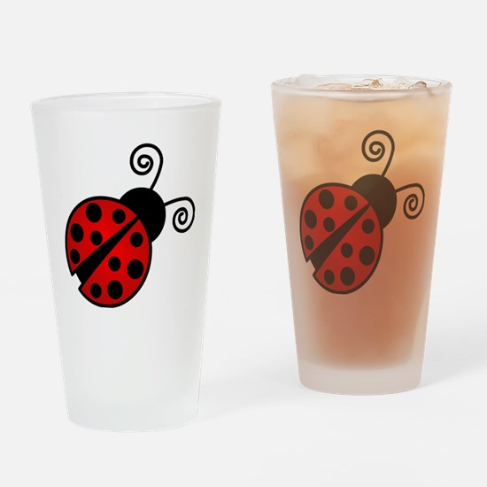 Red Ladybug 2 Drinking Glass