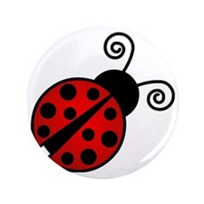 "Red Ladybug 2 3.5"" Button"