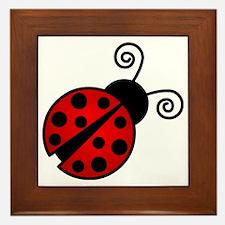 Red Ladybug 2 Framed Tile