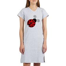 Red Ladybug 2 Women's Nightshirt