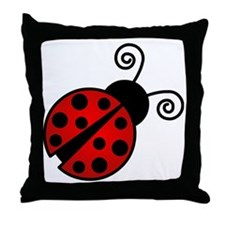 Red Ladybug 2 Throw Pillow