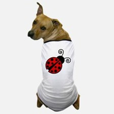 Red Ladybug 2 Dog T-Shirt