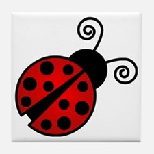Red Ladybug 2 Tile Coaster