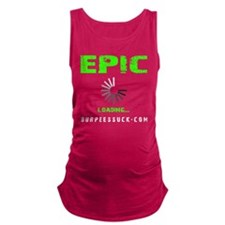 EPIC LOADING - ELECTRIC LIME Maternity Tank Top