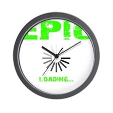 EPIC LOADING - ELECTRIC LIME Wall Clock