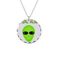 Legal Aliend Necklace Circle Charm