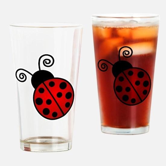 Red Ladybug Drinking Glass