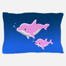 Pink Dolphins Pillow Case