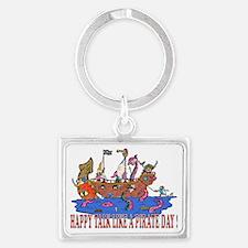 Happy Talk like A Pirate Day Landscape Keychain