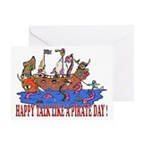 Talk like a pirate day Greeting Cards