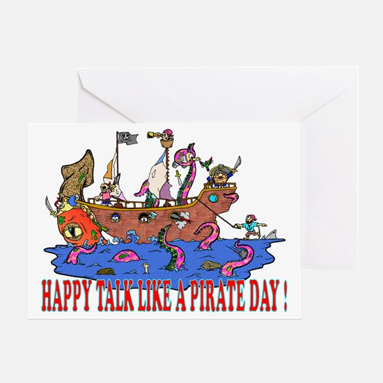 Happy Talk like A Pirate Day Greeting Card