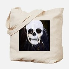 skull illusion coloured gn high res Tote Bag