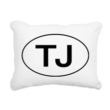 Jeep TJ Wrangler Oval Rectangular Canvas Pillow