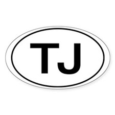 Jeep TJ Wrangler Oval Decal