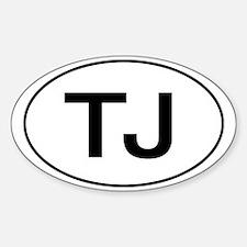 Jeep TJ Wrangler Oval Decal