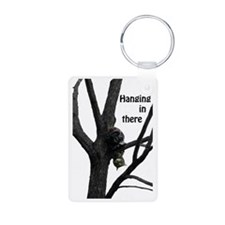 Hanging in There Cat Keychains