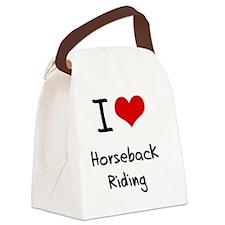 I Love Horseback Riding Canvas Lunch Bag