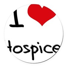 I Love Hospice Round Car Magnet