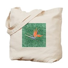 Green Bird of Paradise Tote Bag