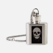 skull illusion Flask Necklace