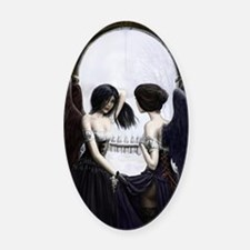 skull illusion Oval Car Magnet