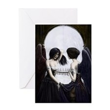skull illusion Greeting Card