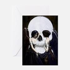 skull illusion Greeting Card