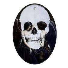skull illusion Oval Ornament