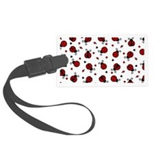 Cute Red Ladybug and Hearts Prin Luggage Tag