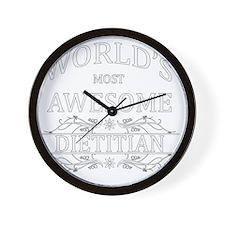 MOST AWESOME NURSE White ADVICE DIETITI Wall Clock