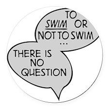 swimming Round Car Magnet