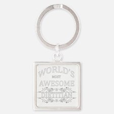 MOST AWESOME NURSE White ADVICE DI Square Keychain