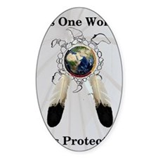 One World Logo Decal