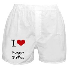 I Love Hunger Strikes Boxer Shorts