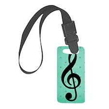 Blue Music Luggage Tag