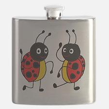 Funny Ladybugs Dancing Flask