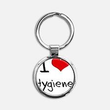 I Love Hygiene Round Keychain