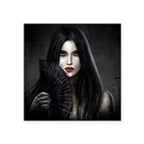 Female vampire gothic Bumper Stickers