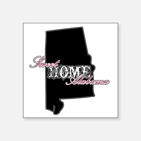 "Alabama Square Sticker 3"" x 3"""